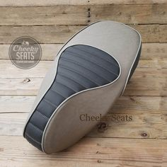 Vespa Sprint Primavera 50 125 150 Padded Gray Two Tone Scooter Seat Cover - By Cheeky Seats by CheekySeats on Etsy Vespa Sprint, Vespa Gts 300, Yamaha Cafe Racer, Cafe Racer Build, Automotive Upholstery, Car Upholstery, Motorcycle Seats, Motorcycle Leather, Bike Seat Cover