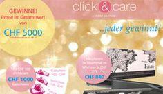 Gewinne mit der grossen Sommerverlosung von Click & Care Preise für Haarpflege Produkte im Wert von CHF 5'000.- http://www.alle-schweizer-wettbewerbe.ch/gewinne-mit-click-care-preise-im-wert-von-chf-5000/