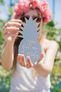 Pineapple fun: http://www.stylemepretty.com/living/2015/06/07/aloha-themed-bridal-shower/ | Photography: Felicia Lasala - http://felicialasala.com/