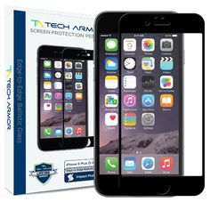 Tech Armor Apple iPhone 6 Plus Premium Edge to Edge HD Clear Ballistic Glass Screen Protector (Black) - Protect Your Screen from Scratches and Drops http://zingxoom.com/d/cwHHJ7Nc