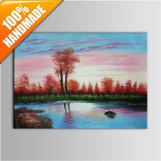 Hand Painted Realistic Landscape Frameless Oil Painting on Canvas Oil Painting On Canvas, Hand Painted, Landscape, Handmade, Scenery, Hand Made, Landscape Paintings, Craft, Corner Landscaping