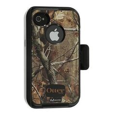 OtterBox iPhone 4S 4 Defender Case & Holster RealTree Camo AP Trees Black OEM