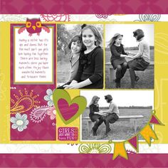 Girls Just Want to Have Fun Be Young Digital Scrapbook Layout Project Idea