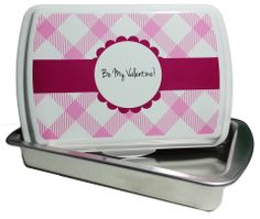 Designer Series Cake Pans! Show off your creativity! Change the background patterns, colors, fonts, and personalization! Make this pan truly yours! Starting at $39.99!