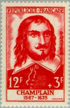 Stamp: Champlain (1567-1635) (France) (Famous People) Yt:FR 1068,Mi:FR 1096