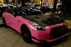 Pink and mat black Nissan GTR!!! THIS WILL BE MY CAR :)