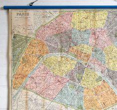 #map #paris #vieuxparis #wallhanging #walldecor #interiors #vintagedecor