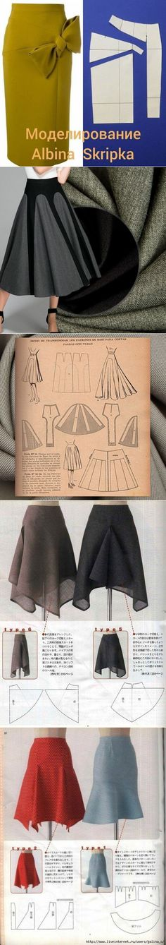 La costura ✂ los Patrones. Las falditas diferentes interesantes // Алла Быковская