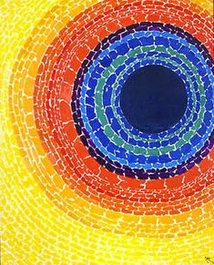 Alma Woodsey Thomas, this painting kind of looks like a circular weaving...