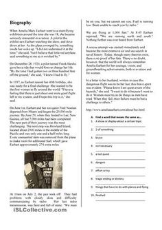 amelia earhart worksheets - Yahoo Image Search Results