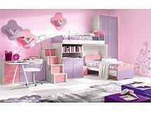 Dormitor copii cu paturi suprapuse
