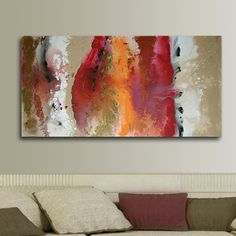 S.A.L.E  24x48 ORIGINAL abstract Painting on by studiomosaic, $294.00