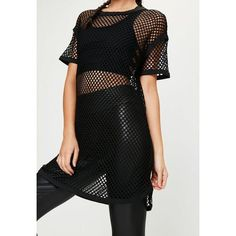 Active Black Fishnet Oversized T-Shirt ($18) ❤ liked on Polyvore featuring tops, t-shirts, oversized t shirt, oversized tee, fishnet t shirt, oversized tops and over sized t shirt