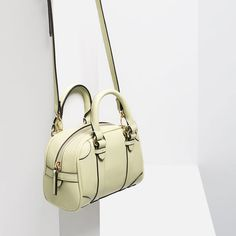 Image 7 of MINI BOWLING BAG WITH BUCKLES from Zara Mini Bowling, Bowling Bags, Big Bags, Mini Bag, Zara, Image, Women, Fashion, Moda