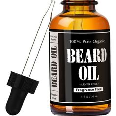 Leven Rose Beard Oil and Leave-In Conditioner - Best Beard Oil Fragrance Free - Pure Organic Natural Unscented for Groomed Beard Growth, Mustache, Skin for Men - 1 Oz - Jojoba and Argan Oil Diy Beard Oil, Best Beard Oil, Lob, Home Design, Natural Beard Oil, Natural Man, Beard Conditioner, Beard Look, Beard Growth