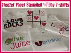 Crafts & Sutch: Freezer Paper Stenciled Valentine's Day T-shirts