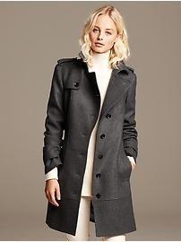 Charcoal Wool Trench  | Banana Republic | Eastwood Towne Center - Lansing, MI #ShopEastwood