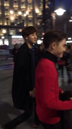 Chanyeol and Kyungsoo in Spain