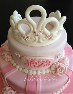 happily ever after edible princess theme cake by sweetpinkbyarlene, $25.00
