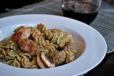 Almond Pesto Pasta with Chicken & Italian Sausage « The Culinary Chronicles