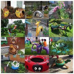 Staré ojazdené pneumatiky nemusíte hneď vyhadzovať. Môžete si s nimi skrášliť vašú záhradu alebo si z nich vyrobiť obyčajnú hojdačku, ktorú si deti zamilujú. Inšpirujte sa a vyrobte si niečo kreatívne.