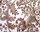 Brown Lace Oilcloth Yardage from Oilcloth Addict: to recover my dining chairs
