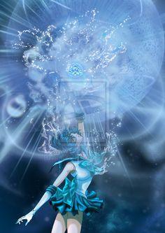 Sailor Mercury Shiny Crystal Power: The Mercury by AmarineCraft