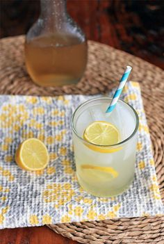 Lemon and Ginger Spritzer with Ginger Syrup recipe