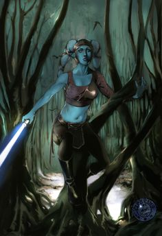 """Yeah, yeah - """"BLewbs"""" - shut it - she's still my favorite, this is a great pic. Aayla Secura by mude"""