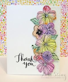 Beautifully watercolored Springtime Wishes flowers with glittery background