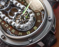 "Azimuth SP-1 Crazy Rider 'Bike Chain' Watch Hands-On - by Richard Cantley - Road worthy? Check out this chain at: aBlogotWatch.com - ""We see a lot of car-inspired watches, don't we? What about watches inspired in part by motorcycles? Not as much. Well, the Azimuth SP-1 Crazy Rider watch offers a very literal interpretation of that design theme. It claims inspiration from the winding interstates of the U.S. highway system, and if you can't tell by the name..."""