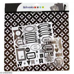 Kit scrapbooking Black