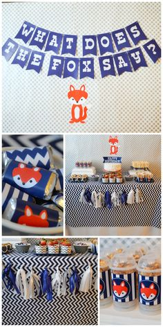 """What does the fox say?"" birthday party ideas! if you love the song, you'll love this party. See more party ideas at CatchMyParty.com."