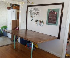 Large Folding Wall Table