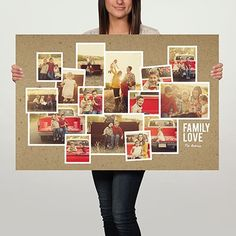 We love how easy this poster makes displaying LOTS of photos. #giftideas #homedecor