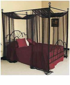 American Metalcraft BZZ95B Rectangular Wire Zorro Baskets, Small, Black.  Black Canopy BedsCanopy Bed CurtainsBed ...