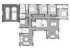 3d House Plans, Home Design Floor Plans, Ranch House Plans, House Blueprints, Dream House Plans, Modern House Plans, Small House Plans, My Dream Home, Circle House