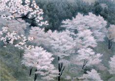 Spring in Yoshino   -   Shinkichi  Kaii Higashiyama  Japanese, 1908–1999   Lithograph,  45.3 x 61 cm. (17.8 x 24 in.)