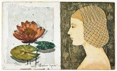Female Painters, Water Lilies, Female Images, Something Beautiful, Surrealism, Illustrators, Contemporary Art, Flora, Clouds