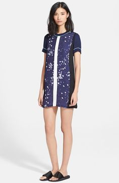 Elizabeth+and+James+'Donna'+Block+Print+Silk+T-Shirt+Dress+available+at+#Nordstrom