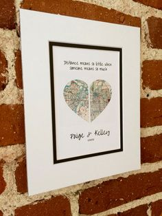 Distance Means So Little...Gifts For Boyfriend or by HandmadeHQ