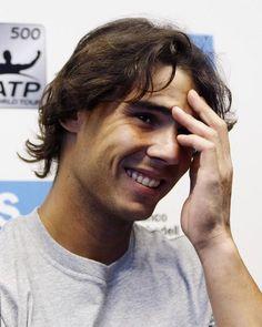A little bit of Rafael Nadal  Love his shy smile!