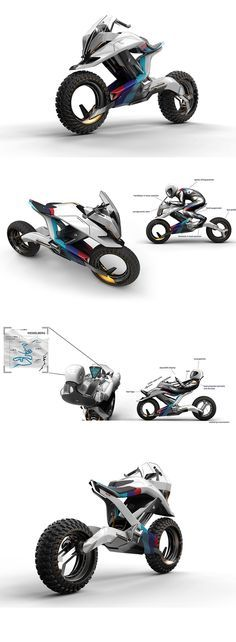 The 'BMW Motorrad Concept Z' bike design adapts to commute and sport applications, but there's also a third, the bike comes with an Autonomous mode, where  the rider literally lounges in his/her seat while the bike glides across from A to B... READ MORE at Yanko Design !