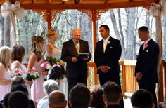 Exchanging vows at the Pavilion