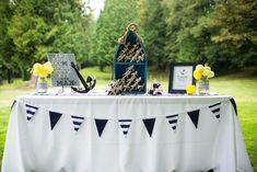 This elegant and fun nautical theme baby shower uses navy, white and gray as a color palette and incorporates beachy items to give the full nautical theme party Shower Party, Baby Shower Parties, Baby Shower Themes, Baby Boy Shower, Baby Showers, Shower Ideas, Bridal Shower, Nautical Baby Shower Decorations, Nautical Party