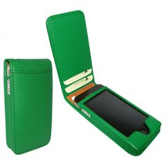 Piel Frama case for the iPhone 4 with card slots. I like that I can carry just my phone and my keys and eliminate the need for a wallet.