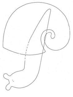 handmade by sylwik: Tilda ślimak - TUTORIAL - tilda snail Felt Patterns, Applique Patterns, Craft Patterns, Sewing Patterns, Sewing Toys, Sewing Crafts, Sewing Projects, Felt Crafts, Fabric Crafts