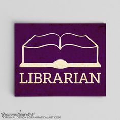 Librarian Print English Poster Library Science by GrammaticalArt