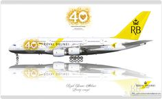 https://flic.kr/p/q5Z8N6 | Royal Brunei Airlines Livery concept | Royal Brunei Airlines / Airbus A380 / 40th Anniversary / Livery concept