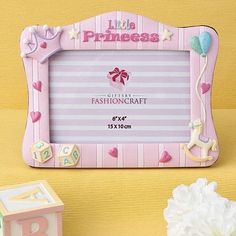 Other Wholesale Party Supplies 14882: 10 Pink Little Princess Baby Shower Frames And Table Number Centerpiece Frames -> BUY IT NOW ONLY: $59.75 on eBay!